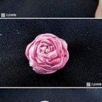 Making beautiful flowers from silk