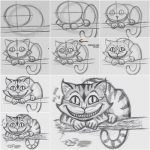 Drawing a cat in the easiest way
