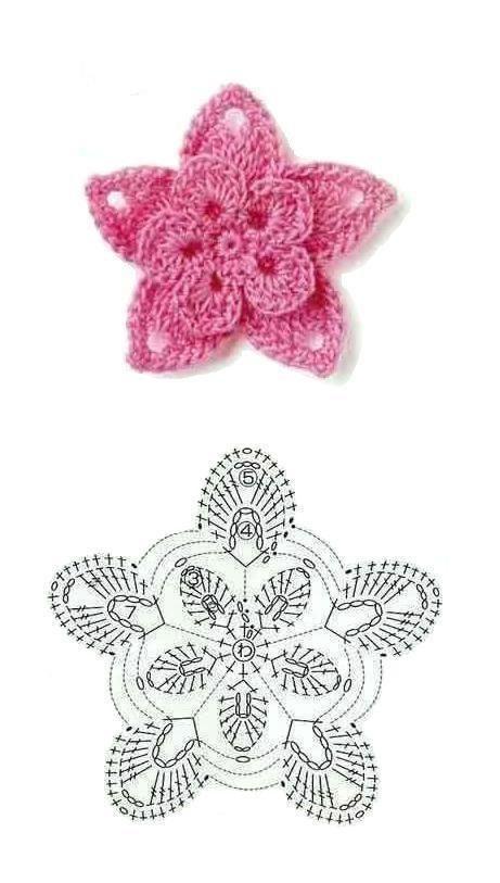 Luty Artes Crochet: Flores e Folhas em Crochê + Gráficos.