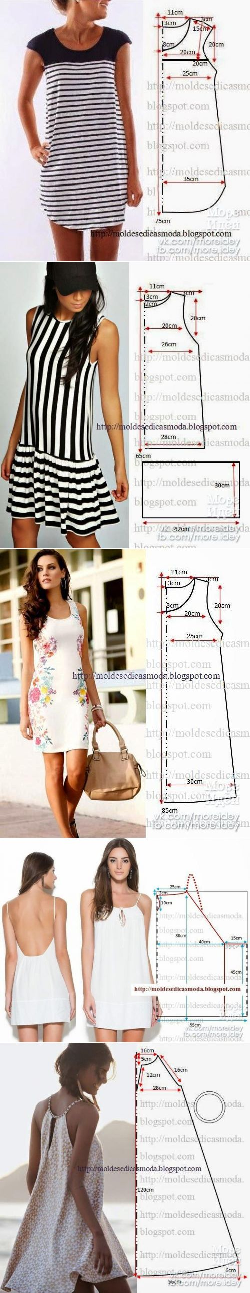 SEW QUICK SUMMER DRESSES! Im a Fan of the Standard Sheath (the possibilities!!) and the Spaghetti Strap versions, How about You?~~https://www.pinterest.cim/bonniebuchanan