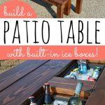 ICE BOX PATIO TABLE – DIY