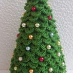 How To Make Knitted Christmas Trees As Small Decorations