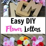 Easy DIY Floral Letter Wall Decorations