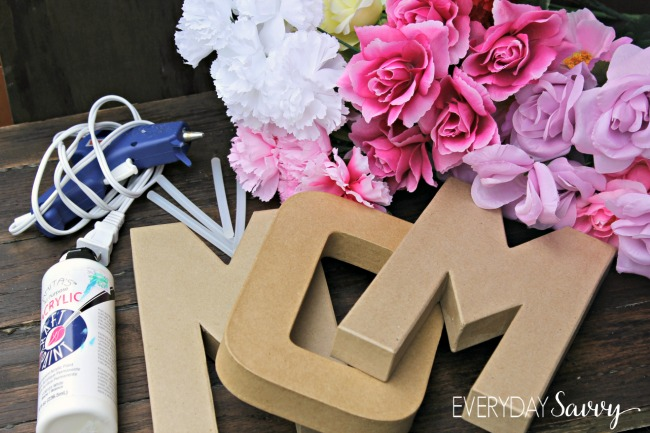 Easy Diy Floral Letter Wall Decorations Explore Trending