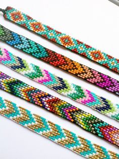 Chevron // arrow seed bead patterns More