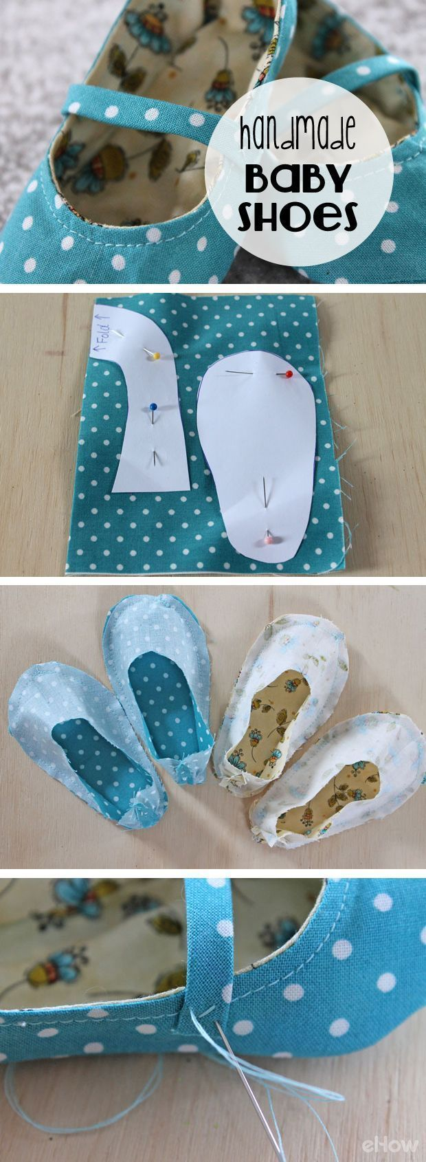 So adorable! Who knew making fabric baby shoes were this simple! Dont spend money on expensive shoes, especially when you can hand make tons for the same price. How to tutorial with pictures here: http://www.ehow.com/ehow-crafts/blog/handmade-fabric-baby-shoes/?utm_source=pinterest.com&utm_medium=referral&utm_content=blog&utm_campaign=fanpage