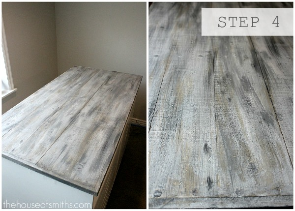 Step 4 – faux barn wood painting tutorial – thehouseofsmiths.com