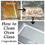 Get Rid of Rust and Dirt in the Oven Glass by Basic Home-made Ingredients