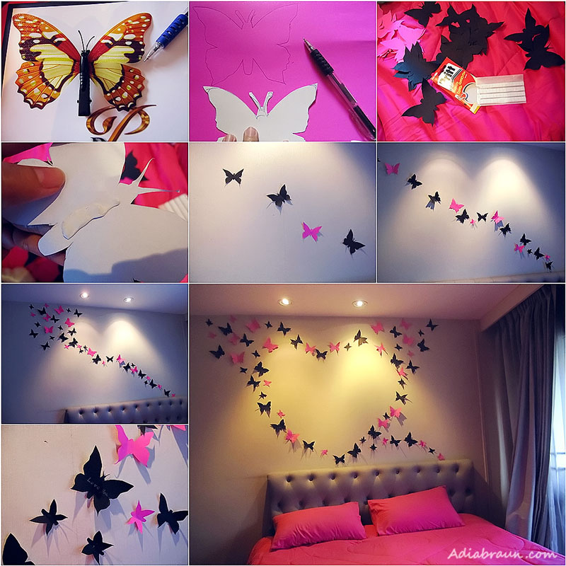 Super Cute Erfly Wall Decoration With Papers Explore