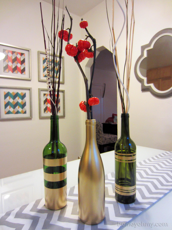 Spray-Painted-Wine-Bottles
